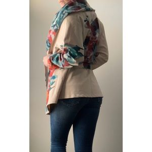 Jackets & Blazers - Water Colour Floral Double Breast Jacket